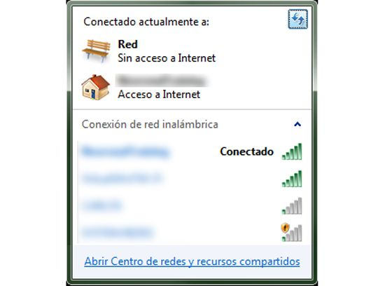 Conectar la PC a la red