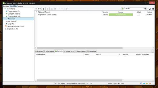 Descargar Torrents con uTorrents