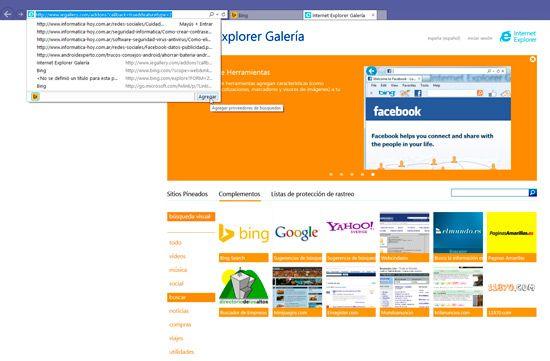Cambiar motor de busqueda del navegador