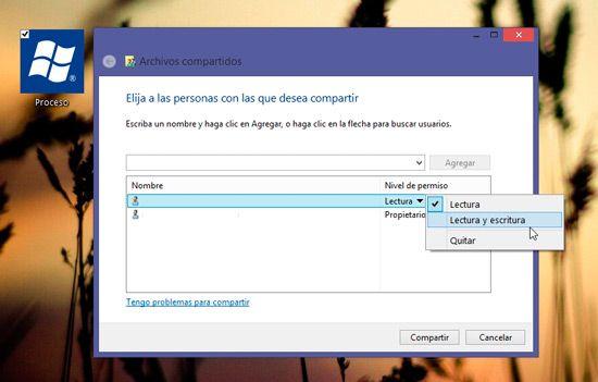 Compartir carpetas en Windows