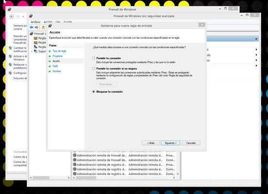 Bloquear programas con Firewall de Windows