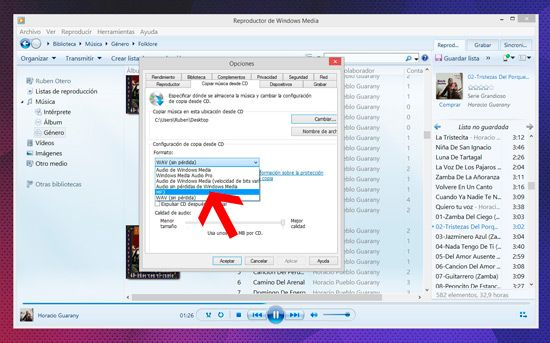 Convertir CD para MP3 Player