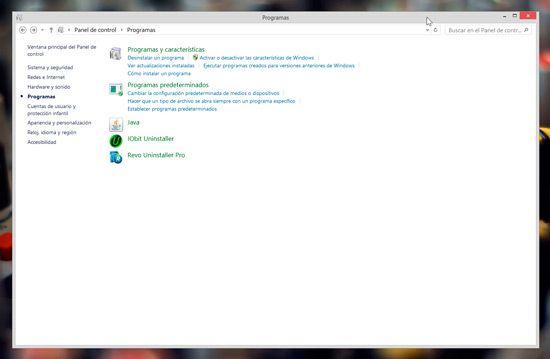 Desinstalar programas en Windows