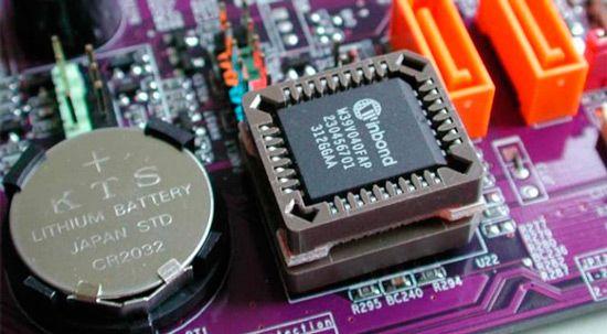 La pila de la motherboard