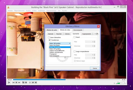 Rotar video con VLC