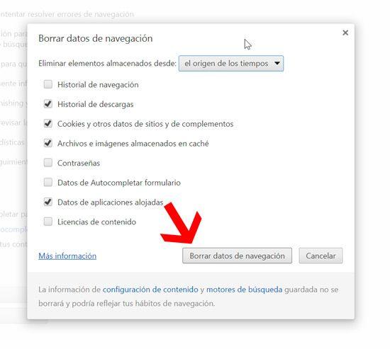 Cómo eliminar cookies del navegador
