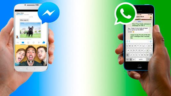 Fotos de WhatsApp a Facebook Messenger