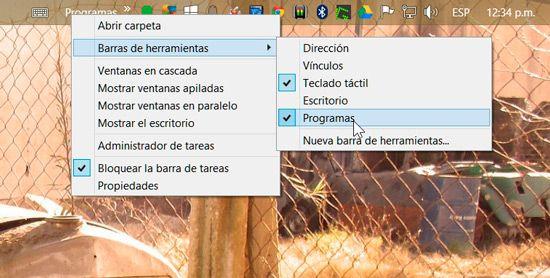 Añadir menú inicio en Windows 8