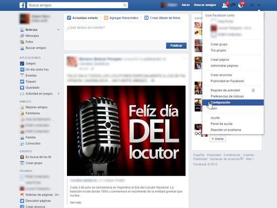 Evitar invitacionesa juegos en Facebook