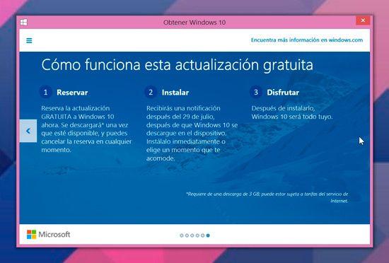 Reservar Windows 10