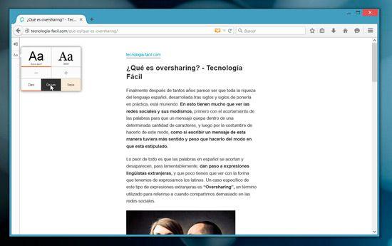Convertir web a PDF con Firefox