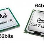 ¿Cuáles son las diferencias entre una CPU de 32 bits y de 64 bits?