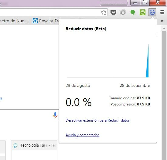 Ahorrar datos en Chrome