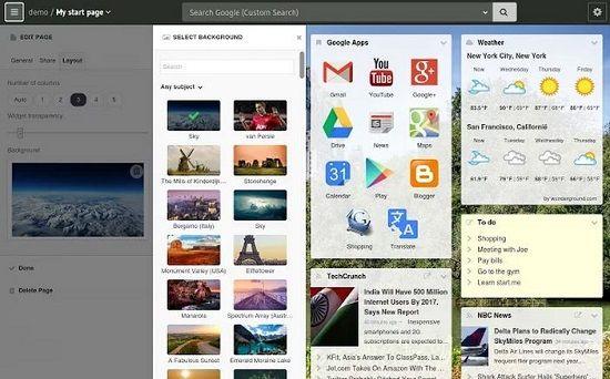 Personalizar página de inicio Chrome