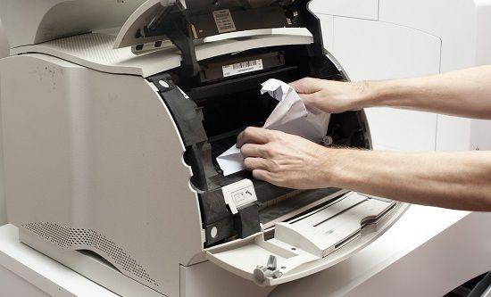 Quitar papel de la impresora