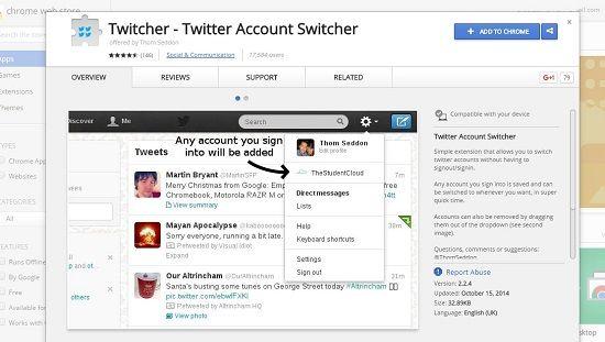 Usar varias cuentas de Twitter