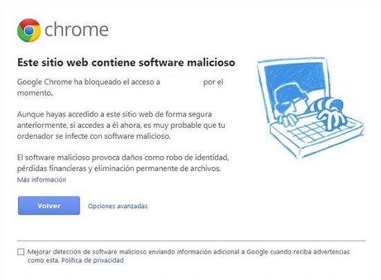 Cómo evitar webs peligrosas