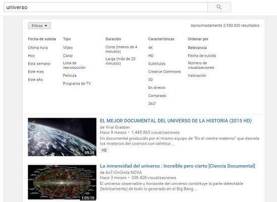 Visualizar videos en YouTube