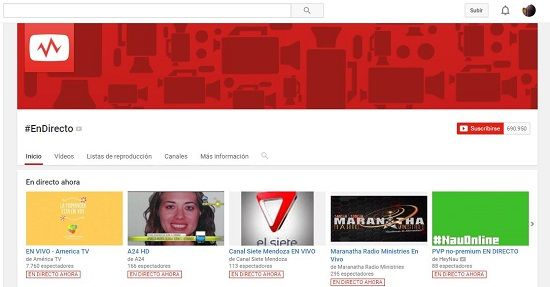 Visualizar videos en YouTube