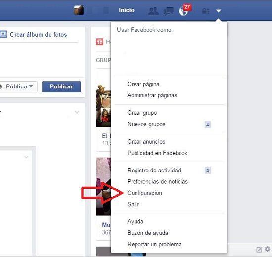 Copia de seguridad en Facebook