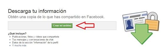 Copia de seguridad en Facebook