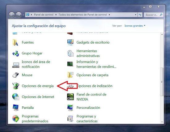 Desactivar hibernacion en Windows