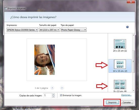 Cómo imprimir fotos con Windows