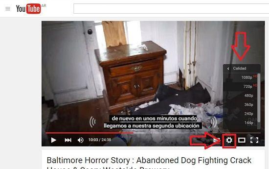 Controles básicos de YouTube