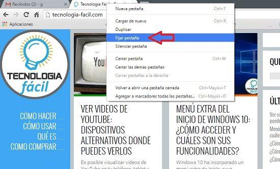 Usar varias pestañas en el navegador