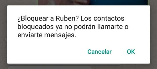 Bloquear o eliminar contactos WhatsApp