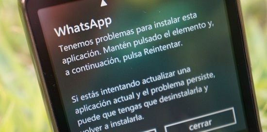 Problemas con WhatsApp