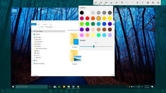 Capturar pantalla en Windows 10