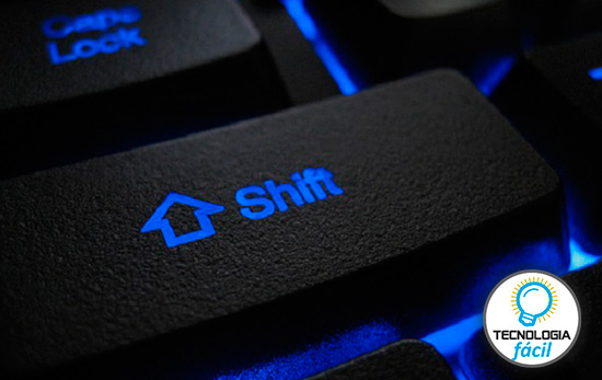 La tecla Shift