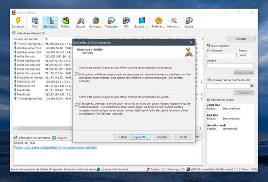 configurar emule 0.50 windows 7