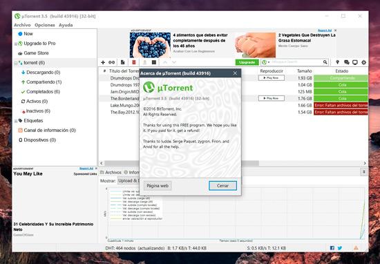 descarga de musica gratis por utorrent