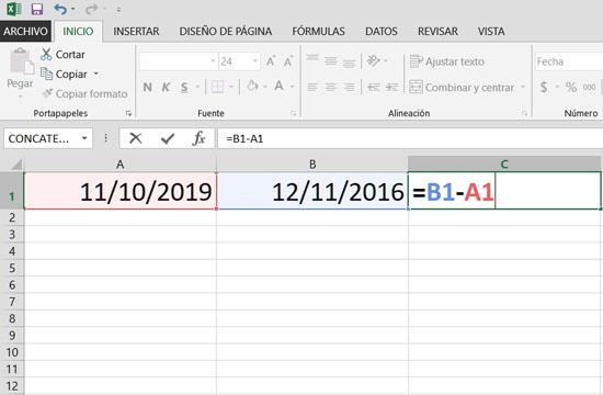 Como Restar En Excel Tecnología Fácil